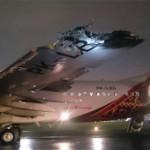 Penampakan Pesawat Batik Air Setelah Bertabrakan dengan TransNusa