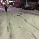 Setelah Terkena Musibah Gempa, Jalanan Jepang Dipenuhi Dengan Busa