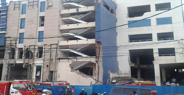 Mandor Kabur, Bangunan Roboh di Jakut Polisi Masih Usut Penyebabnya