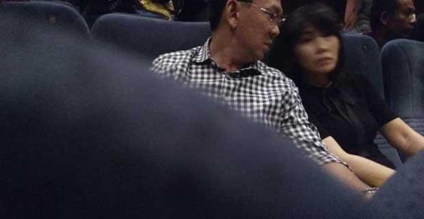 Ahok Mengajak Istri Malam Minggu Nonton Film Bidah Cinta di TIM
