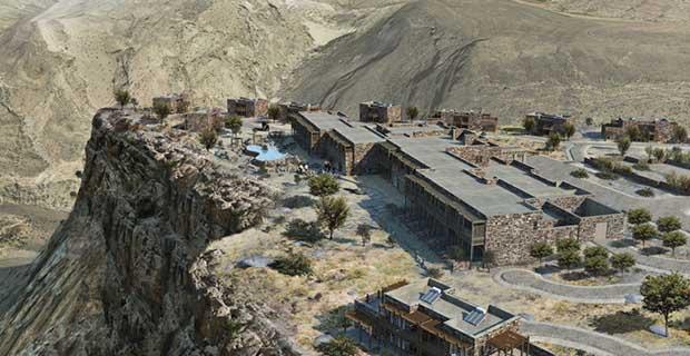 Indahnya Hotel Timur Tengah yang Terletak di Atas Gunung