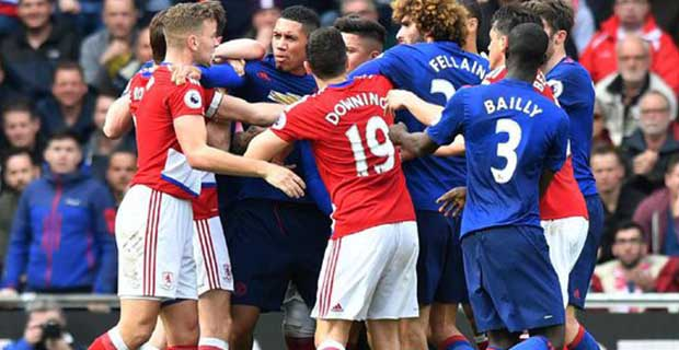 Manchester United Geser Arsenal Usai Melibas Middlesbrough 3-1