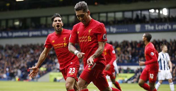 Liverpool Meraih Kemenangan Tipis atas WBA Lewat Gol Firmino