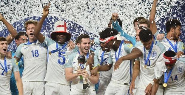 Inggris Merayakan Juara Piala Dunia U-20 2017