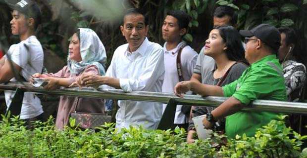 Jokowi Bersama Rombongan Tetap Bayar Tiket Masuk Saat Berkunjung ke Ragunan
