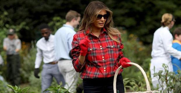 Melania Trump Dikritik Lantaran Memakai Kemeja Saat Berkebun