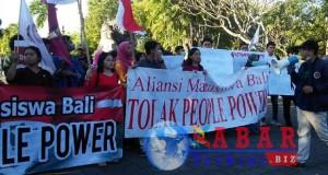 Penolakan Aksi People Power Dari Mahasiswa Lintas Agama di Bali