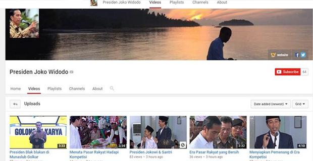 Jokowi Resmi Mempunyai Akun Youtube Setelah FB, Twitter dan Instagram