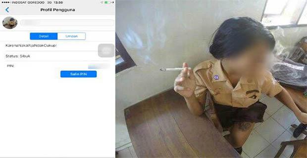 Siswi SMP Ini Mengaku Foto Tidak Senonoh di DP BBM Dirinya