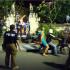 Bule Yang Bunuh Polisi di Pantai Legian Melakukan Rekonstruksi