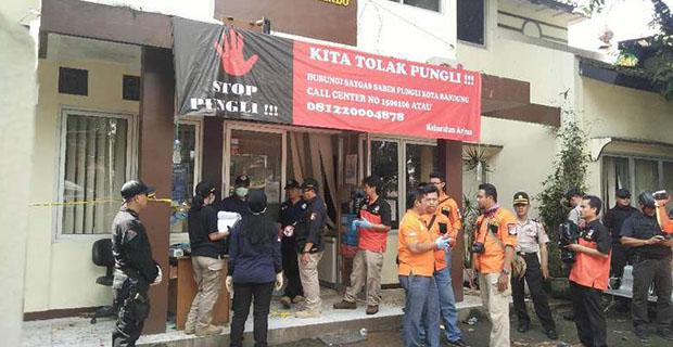 Tim Laboratorium Forensik Mabes Polri Olah TKP Kantor Kelurahan dan Lokasi Bom Panci