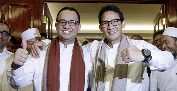 Jawaban Anies dan Sandiaga Mengenai Janjinya di Kampanye Pilihan Gubernur DKI