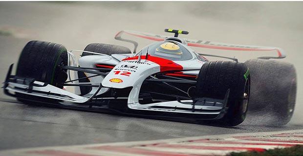 Tampilan Untuk Jet Darat Pada Mobil Balap F1 Tahun 2025