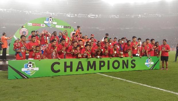 Persija Jakarta Juara Liga 1 Indonesia 2018